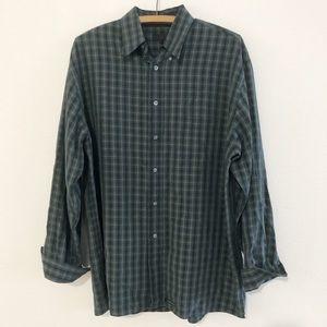 Ted Baker Micro Plaid Dress Shirt Size 3 (38)